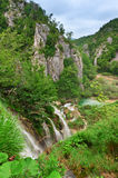 Waterfalls at national park. Plitvice, Croatia. Popular touristic destination Stock Photography