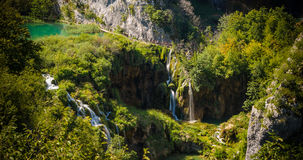 Waterfalls in National Park Plitvice Lakes Royalty Free Stock Photo