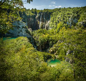 Waterfalls in National Park Plitvice Lakes Stock Image