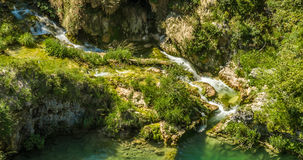 Waterfalls in National Park Plitvice Lakes Royalty Free Stock Photography
