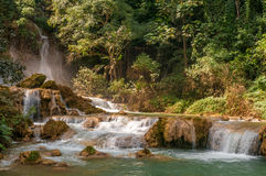 Waterfalls in Nature. Waterfalls in Vang Vieng Nature Stock Photos