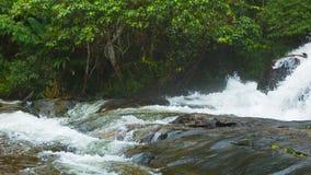 Waterfalls near Chiang Rai, Thailand. Shoot with panning stock video