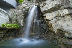 Waterfalls Near Green Grasses Photograph royalty free stock images