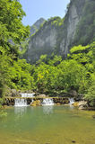 Waterfalls near Xiaofeng River. Yichang stock photography