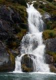 Waterfalls Nena glacier on the archipelago of Tierra del Fuego. Royalty Free Stock Photography