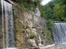 Waterfalls. New Athos, Abkhazia. Summer time Royalty Free Stock Image