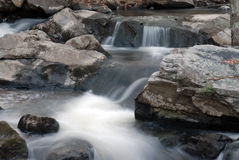 Waterfalls in NH 3. A flowing waterfall in NH Royalty Free Stock Image