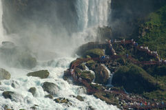 Waterfalls at Niagara Falls. Image of Niagara Falls in USA , view from canadian side stock photos