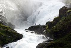 Waterfalls Norway. Royalty Free Stock Images