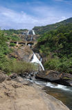 WaterFalls ocean of milk. Indian National Park, Goa Royalty Free Stock Photos