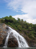 WaterFalls - ocean of milk. Indian National Park, Goa Royalty Free Stock Photos
