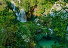 Waterfalls Of Plitvice Lakes National Park Royalty Free Stock Image