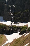 Waterfalls off the swift current trail. Stock Photo