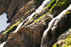 Waterfalls off the swift current trail. Stock Image