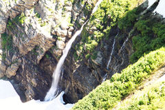 Waterfalls off the swift current trail. Stock Images
