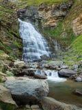 Waterfalls in Ordesa and monte perdido national park in Pyrinees range in Spain, Huesca, Cola de Caballo royalty free stock image