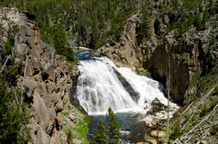 Waterfalls in Our National Parks. A Beautiful Waterfall in One of our National Parks Royalty Free Stock Image