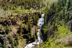 Waterfalls in Our National Parks. A Beautiful Waterfall in One of our National Parks Royalty Free Stock Photos