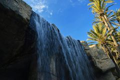 waterfalls in palm groves Stock Image