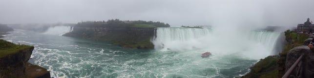 Waterfalls Panorama Landscapes Niagara Falls , Toronto. Incredible Panorama Landscapes of the natural Niagara Falls Stock Photos
