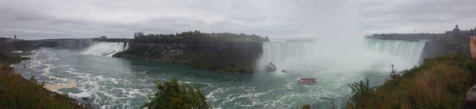 Waterfalls Panorama Landscapes Niagara Falls , Toronto. Incredible Panorama Landscapes of the natural Niagara Falls Royalty Free Stock Photos