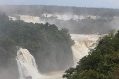 Waterfalls in the park of Iguazu Stock Photo