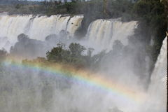 Waterfalls in the park of Iguazu Royalty Free Stock Images