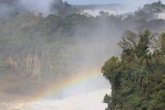 Waterfalls in the park of Iguazu Royalty Free Stock Photos