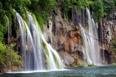 Waterfalls,Plitvice. Lakes Plitvice-Croatia Royalty Free Stock Photos