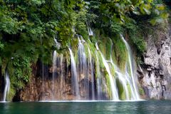 Waterfalls,Plitvice. The lake of Plitvice ,the Croatia Royalty Free Stock Images