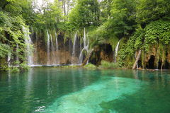 Waterfalls in Plitvice, Croatia Stock Photos