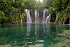 Waterfalls in Plitvice lake Stock Images