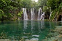 Waterfalls in Plitvice lake Stock Images