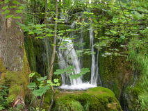 Waterfalls of Plitvice Lakes. The photo taken in the Croatian national park of Plitvice royalty free stock photo