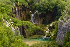 Waterfalls of the plitvice lakes Royalty Free Stock Photography