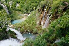 Waterfalls of Plitvice lakes Stock Photos