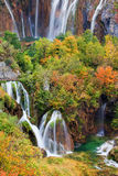 Waterfalls in Plitvice Lakes National Park stock photography