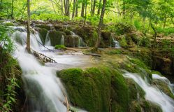 Waterfalls in Plitvice Royalty Free Stock Image