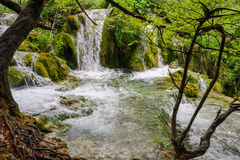 Waterfalls in Plitvice Lakes National Park Royalty Free Stock Photography