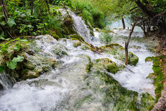 Waterfalls in Plitvice Lakes National Park Royalty Free Stock Image