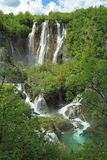Waterfalls in Plitvice lakes Stock Photo