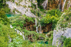 Waterfalls in Plitvice Lakes National Park, Croatia Stock Images