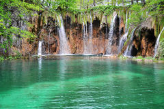 Waterfalls in Plitvice Lakes National Park, Croatia Stock Photos