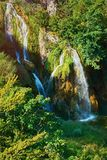 Waterfalls in Plitvice Lakes National Park Stock Photos