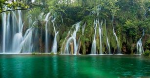 Waterfalls in Plitvice Lakes Park Stock Photo