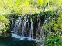 Waterfalls of Plitvice Lakes Royalty Free Stock Images