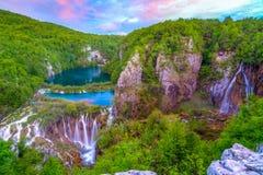 Waterfalls in Plitvice Stock Photos