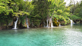 Waterfalls in Plitvice National Park Royalty Free Stock Photos