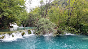 Waterfalls in Plitvice National Park Royalty Free Stock Photo
