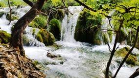Waterfalls in Plitvice National Park Stock Photo